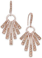 INC International Concepts Rose Gold-Tone Pink Pavé Shaky Sticks Chandelier Earrings, Created for Macy's