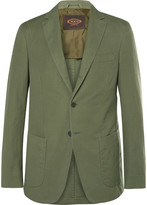 Tod's Green Slim-Fit Cotton and Linen-Blend Suit Jacket