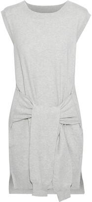 Current/Elliott The Suns Out Tie-front Cotton And Cashmere-blend Mini Dress