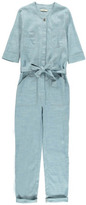 Sessun Sale - Belle Star Linen and Cotton Chambray Jumpsuit