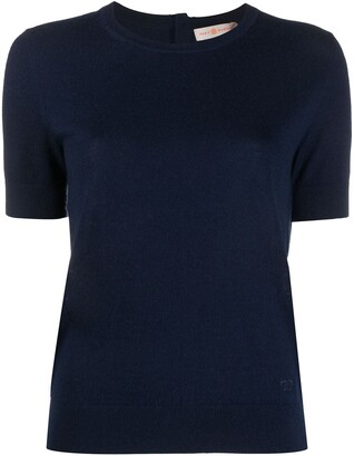 Tory Burch Iberia cashmere knitted top