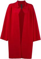 Norma Kamali Pewter coat - women - Polyester/Spandex/Elastane - XS