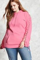 Forever 21 Plus Size Lace-Up Hoodie