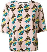 Antonio Marras floral print T-shirt - women - Polyester/Spandex/Elastane - 40