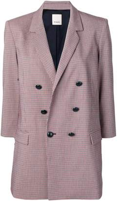 Pinko double breasted check blazer