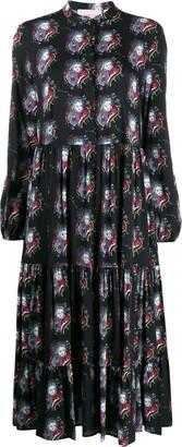 La DoubleJ Persephone tiered midi dress