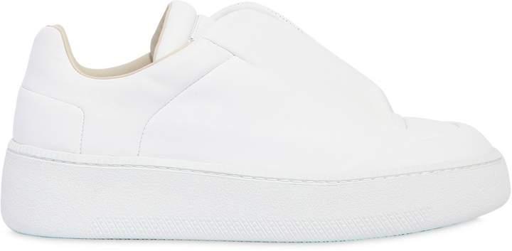 Maison Margiela Future Leather Slip-On Platform Sneakers
