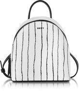 DKNY Twine Stripe Leather Mini Backpack