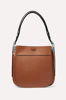 Prada Margit Two-tone Leather Shoulder Bag - Brown