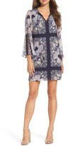 Vince Camuto Women's Bell Sleeve Chiffon Shift Dress