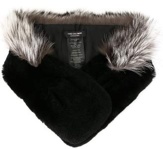 Yves Salomon Accessories fur collar scarf