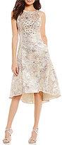 Aidan Mattox Beaded Jacquard Hi-Low Dress