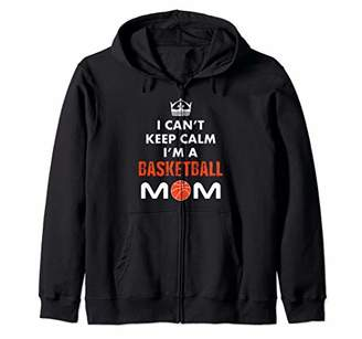 Sports Basketball Mom Women Mother Mommy Gifts Zip Hoodie