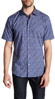 Bugatchi Trim Fit Floral Print Sport Shirt