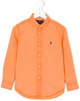Ralph Lauren logo embroidered shirt - kids - Cotton - 4 yrs