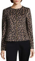 Liz Claiborne Leopard Print Jacket