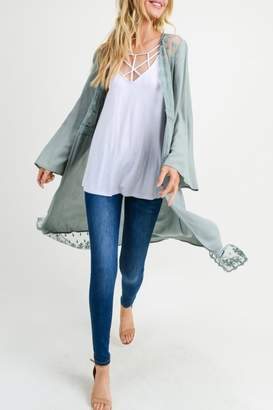 Jodifl Open-Front Lace Cardigan