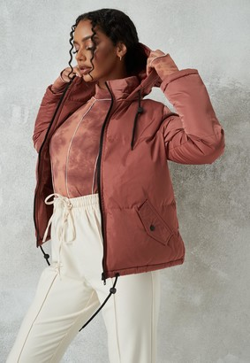 Missguided Brown Padded Drawhem Jacket