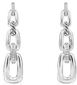 David Yurman Wellesley Linked Chain Drop Earrings with Diamonds