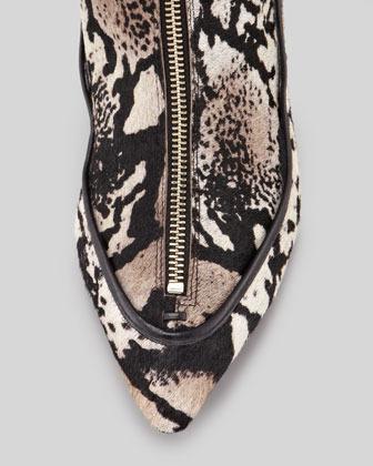 Derek Lam 10 Crosby Aimee Printed Calf Hair Boot, Cream/Multicolor