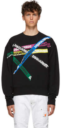 DSQUARED2 Black Dyed Ball Fit Sweatshirt