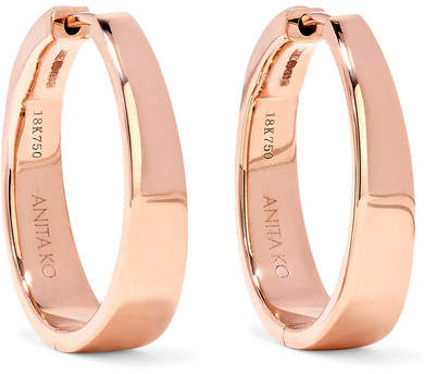 Anita Ko Meryl 18-karat Rose Gold Hoop Earrings