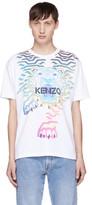 Kenzo White Limited Edition 'Rainbow' Tiger T-Shirt