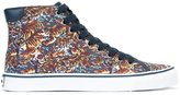 Kenzo 'Vulcano Flying Tiger' hi-top sneakers - men - Cotton/Leather/Polyester/rubber - 39