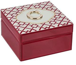American Atelier Monogram Geometric Letter C Jewelry Box