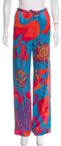 Roberto Cavalli Silk Floral Print Pants w/ Tags
