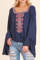 Umgee USA Embroidery Details Top