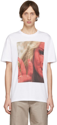 Raf Simons White Mother On Phone T-Shirt