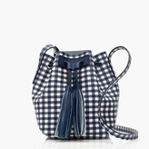 J.Crew Mini bucket bag in gingham