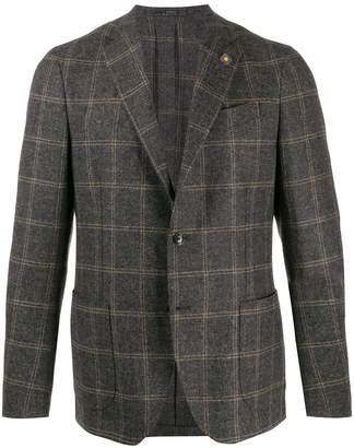 Lardini plaid single-breasted blazer