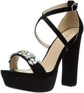 Qupid Women's Platform Heeled Sandal,7 M US