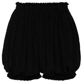 Norma Kamali Ruffle-trimmed Stretch Crinkled-jersey Shorts