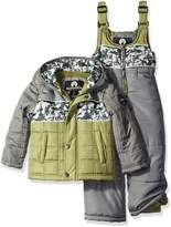 Weatherproof Little Boys' Toddler Puffer Jacket and Matching Bib Overalls