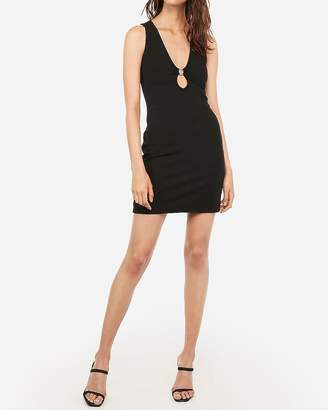 Express Ring Inset Cut-Out Mini Bodycon Dress