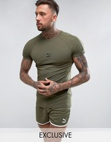 Puma Muscle Fit T-shirt In Green Exclusive To Asos