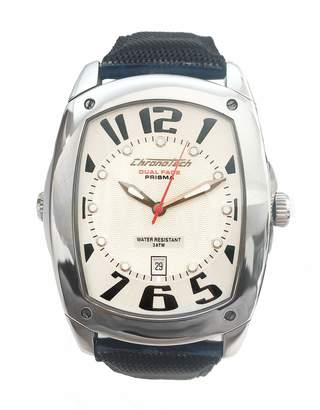Chronotech Unisex Adult Analogue Quartz Watch with Leather Strap CT7696M-02