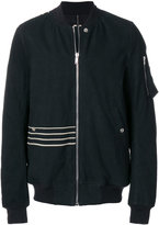 Rick Owens stripe detail bomber jacket
