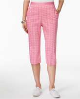Alfred Dunner Reel It In Printed Pull-On Pants