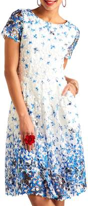 Yumi Butterfly Lace Dress, Blue