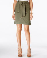INC International Concepts Petite Belted Cargo Skirt, Only at Macy's