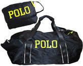 Polo Ralph Lauren Black & Yellow Bowery Packable Duffel Bag
