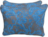 One Kings Lane Vintage Blue & Silvery Gold Fortuny Pillows,Pair