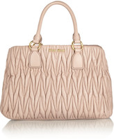 Miu Miu Matelassé leather tote