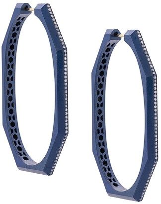 Sorellina Otto diamond hoops