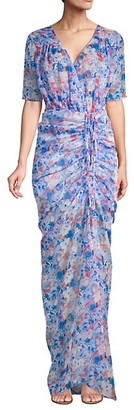 Eywasouls Malibu Elke Ruched Floral Maxi Dress