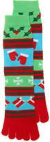 K. Bell Women's Fairisle Women's's Toe Socks -Multicolor